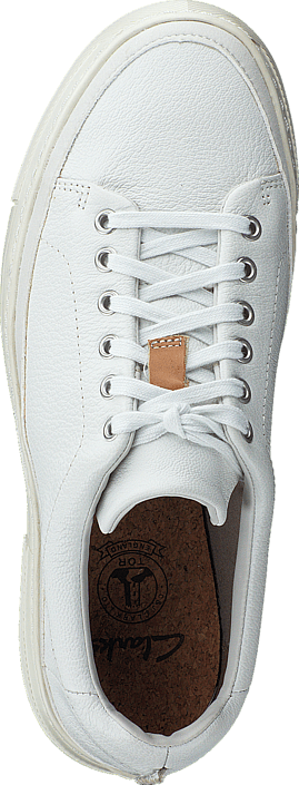 Clarks - Ballof Lace White Leather