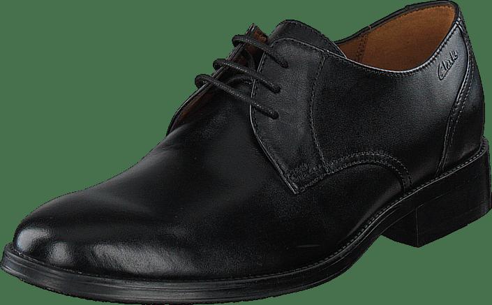 Clarks - Kolby Walk Black Leather
