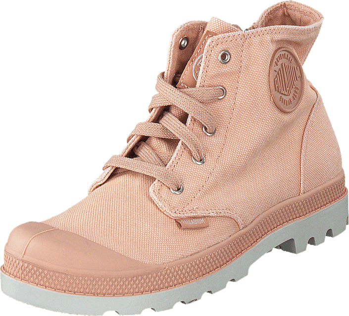 Palladium - Pampa Hi Zipper Kids 53196-671 Salmon Pink
