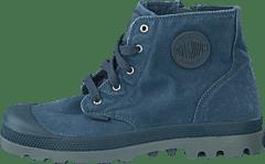 cec28764eac Palladium - Pampa Hi Zipper Kids 53196-404 Dark Slate