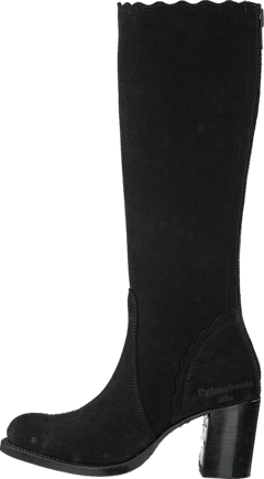 PrimeBoots - Claudia High Afelpado Black Zip 8acfeec91a