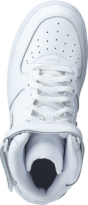 Force 1 Mid (Ps) White/White-White