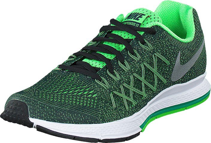 sports shoes e5428 2be2b ... coupon code for nike nike zoom pegasus 32 gs obsidian mtllc silver vltg  grn 673c5 5ae00