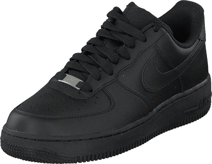 Nike Wmns Air Force 1 '07 Black/Black, Skor, Sneakers & Sportskor, Sneakers, Svart, Dam, 35