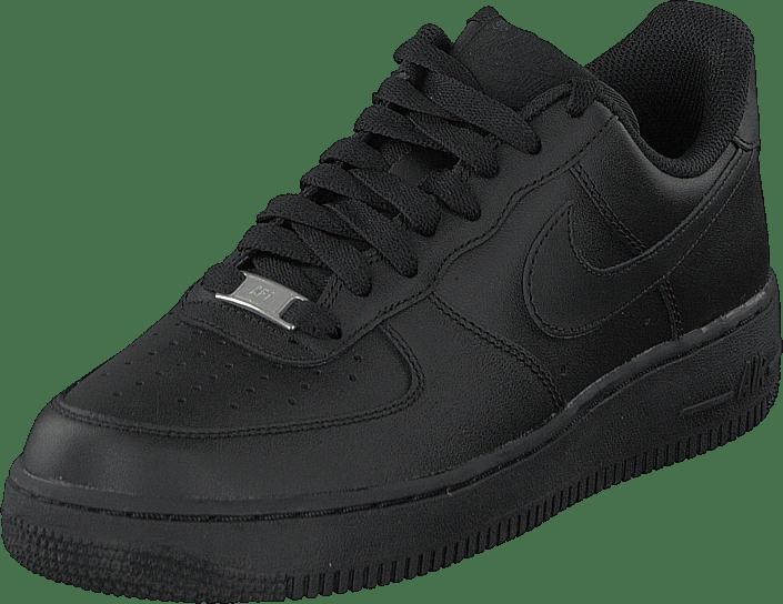 rea nike air force 1 höga 07 skor herr svarta svarta svarta