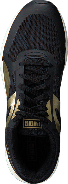 Puma - 698 Ignite Metallic Wn's Black-Metallic Gold-White