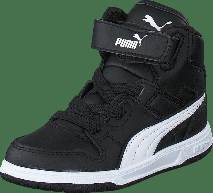 Puma Rebound Street L V Kids Black White