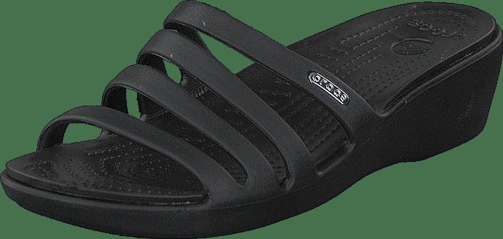 706b4452c3ed Köp Crocs Rhonda Wedge Sandal W Black Black svarta Skor Online ...