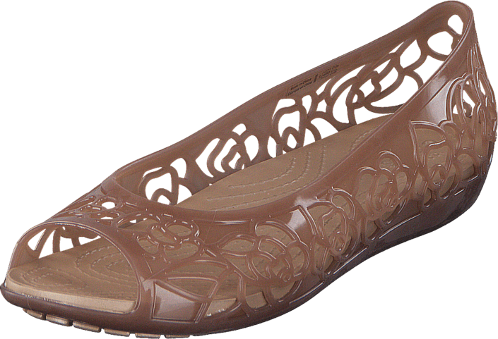 0985f57e0ab9 Buy Crocs Crocs Isabella Jelly Flat W Bronze brown Shoes Online ...