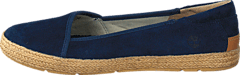 Casco Bay Leather Slip On Navy