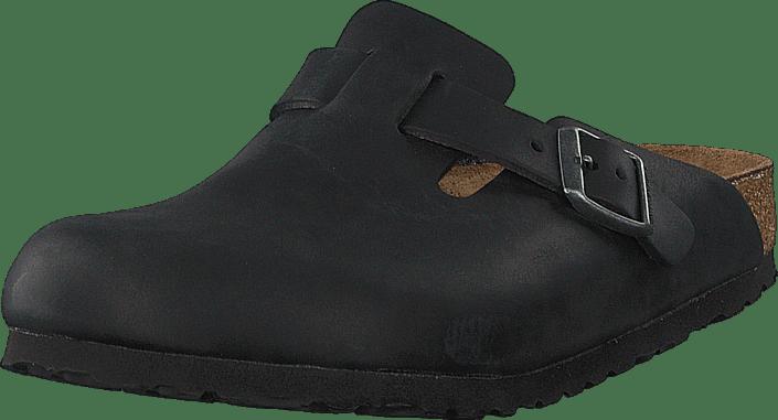 Boston Regular Oiled  Leather Black