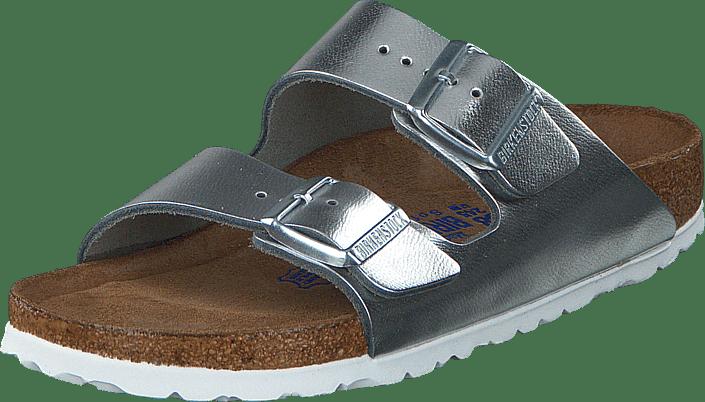 17ae8ce9770 Köp Birkenstock Arizona Smooth Leather Metallic Silver bruna Skor ...