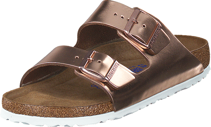 Birkenstock - Arizona Slim Smooth Leather Metallic Copper