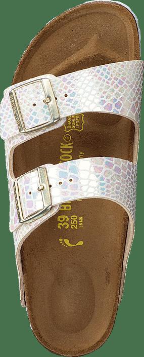 Birkenstock - Arizona Slim Birko-Flor Shiny Snake Cream