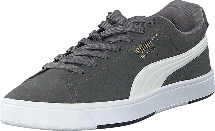 online retailer 66f3d 90f24 Suede S Steel Gray-White-New Gold