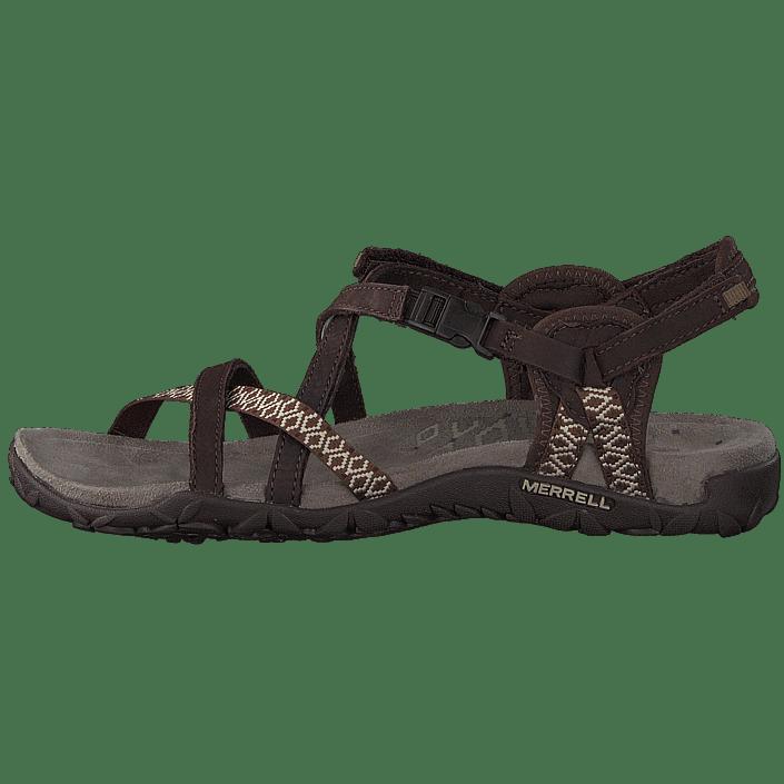 cbb274c2eda5 Buy Merrell Terran Lattice II Dark Earth brown Shoes Online ...