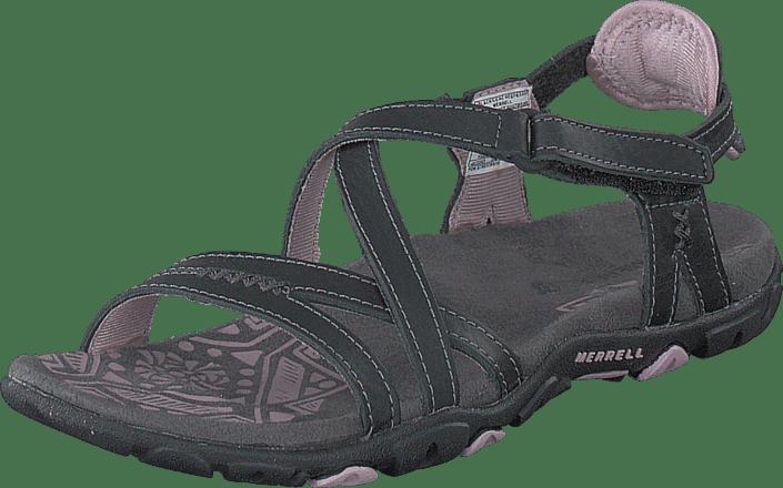 Sko 00 Merrell Tøfler 54708 Og Sandspur Online Leather Grå Black Køb Sandaler Rose UCwqaqO