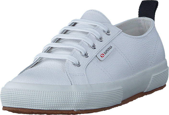 fbb07914 Kjøp Superga 2750-FGLU Leather White hvite Sko Online | BRANDOS.no