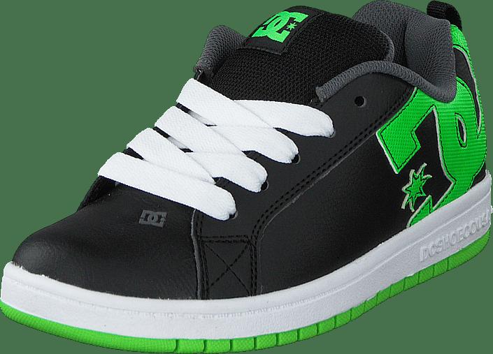 666a7cdc61c Köp DC Shoes Dc Kids Court Graffik Shoe Blk/Grs svarta Skor Online ...