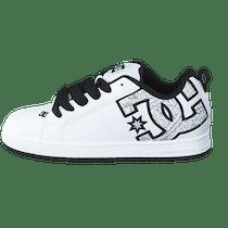 4c95a5a036c Køb DC Shoes Dc Court Graffik Se Shoe White/White Print hvide Sko ...