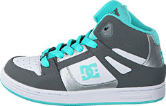 Dc Kids Rebound Shoe Grey/Blue/White