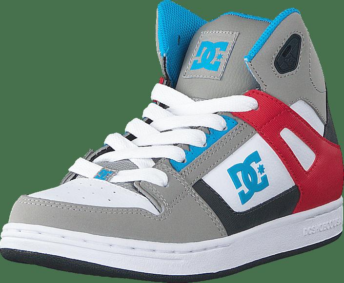 Dc Kids Rebound Shoe Grey/Grey/Red