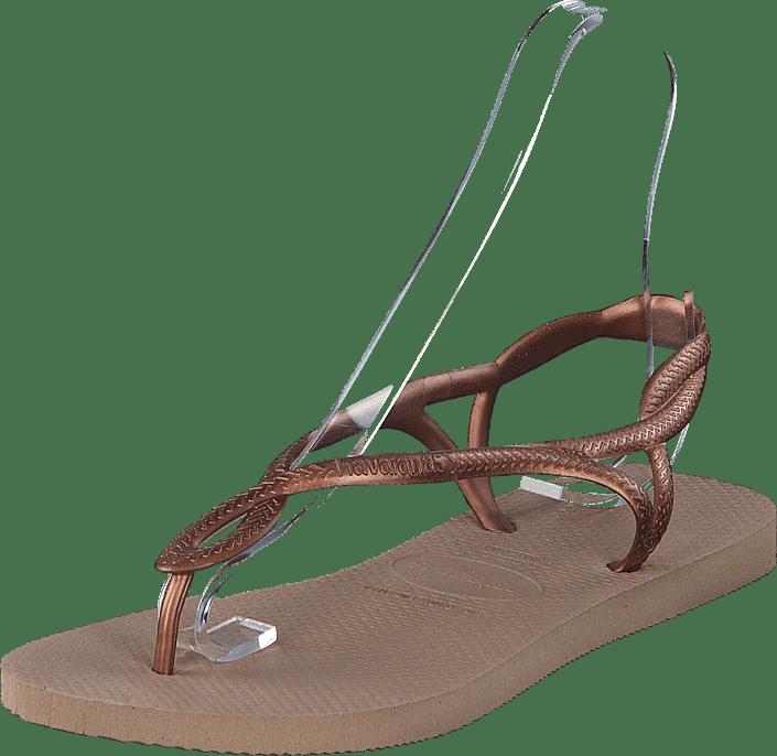 a1b512d5b18 Buy Havaianas Luna Rose Gold Rose Gold brown Shoes Online