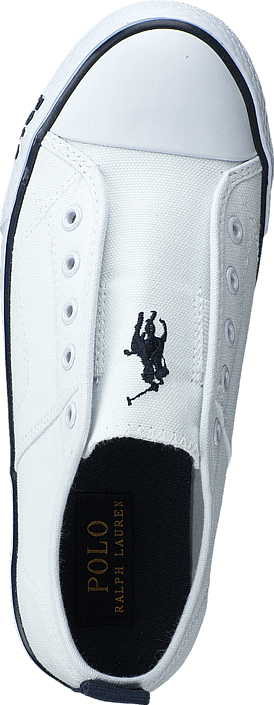 Ralph Lauren Junior - Raymond Slip On Kids Bright White Canvas