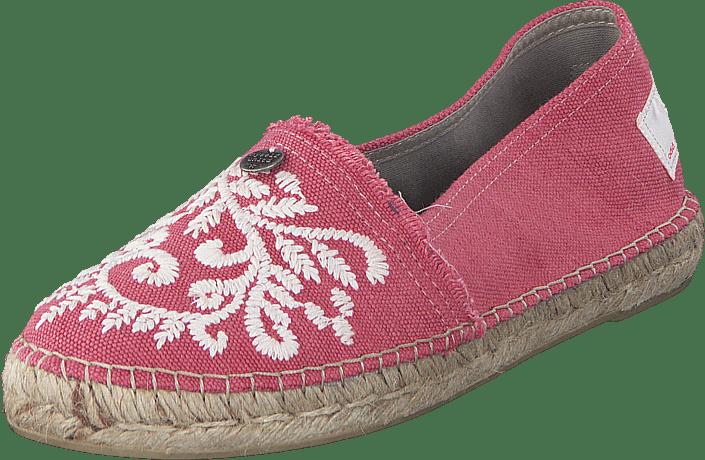 Odd Molly Oddspadrillos Embroideröd Misty rosa bruna Skor Online