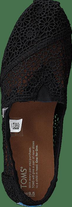 Women's Classic Alpargata Moroccan Crochet Black