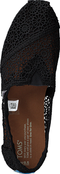 Toms - Women's Classic Alpargata Moroccan Crochet Black
