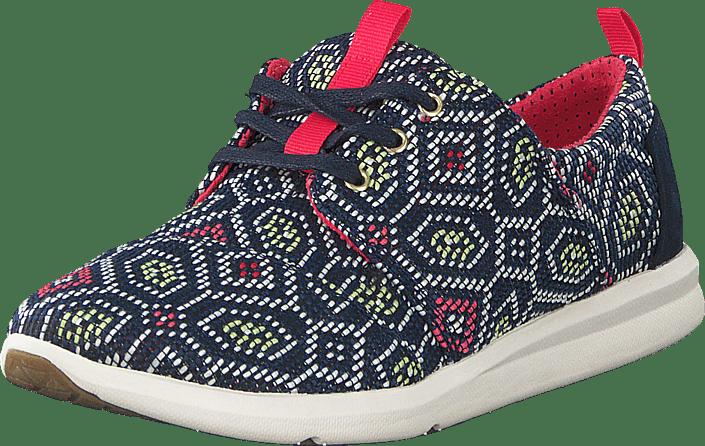 Toms - Women's Del Rey Sneaker Navy multi Woven