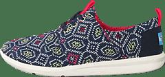 96159d04 Toms - Women's Del Rey Sneaker Navy multi Woven