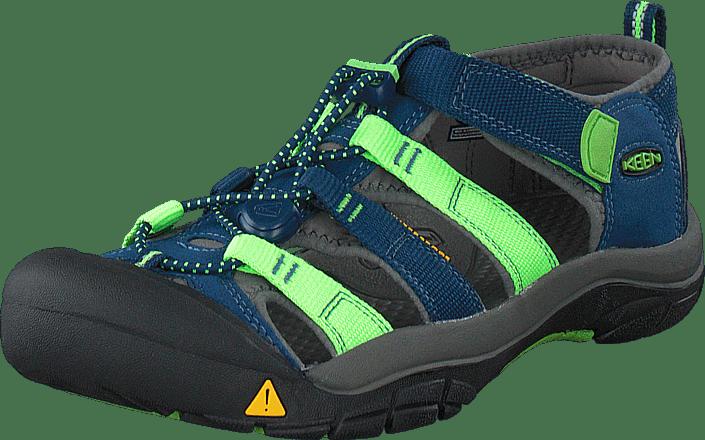 d0ac4a0ef663 Buy Keen Newport H2-Jr Poseidon Jasmine Green Multi blue Shoes ...