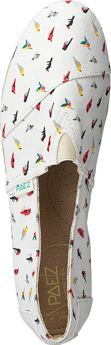 Paez - Raw White, Multicolor (Birds)