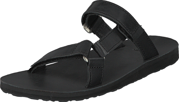 00be36667e8800 Buy Teva W Universal Slide Leather Black black Shoes Online ...