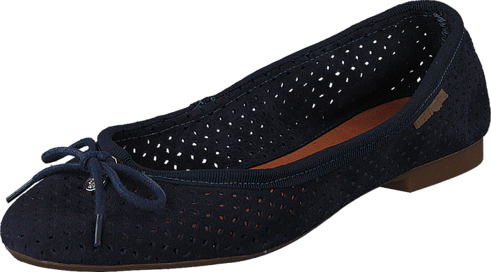 Hush Puppies - Lilly Ballerina Perf Navy