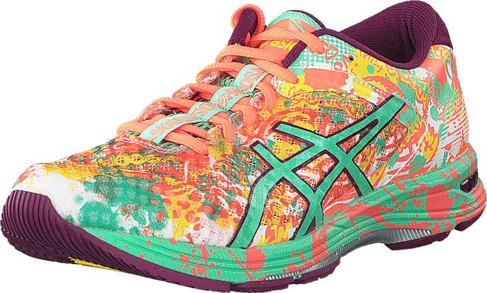 release info on new images of super popular Acheter Asics T676N 0687 Gel Noosa Tri 11 Flashcoral/Springbud/Sun ...