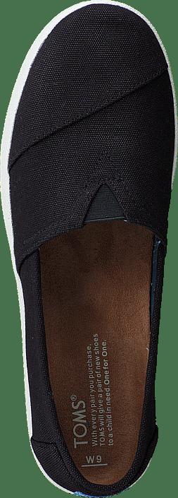 Toms - Avlon Slip-On Black Coated Canvas