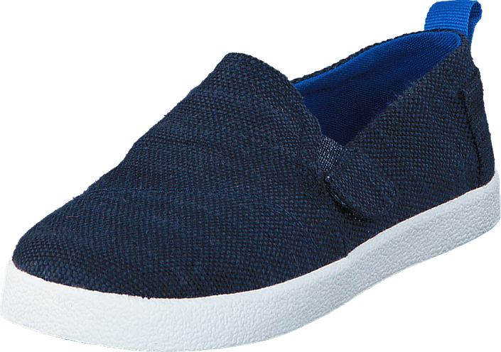 Toms - Avlon Slip-On Navy Slubby Linen