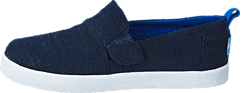 Avlon Slip-On Navy Slubby Linen