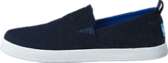 Avlon Slip-On Jr Navy Slubby Linen