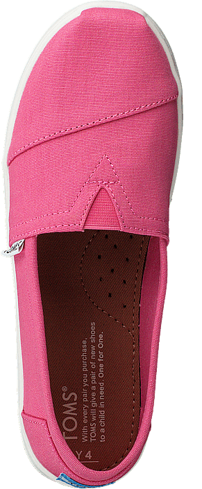 hot sale online 17362 a81a9 Toms - Seasonal Classics Jr Bubblegum Pink Canvas