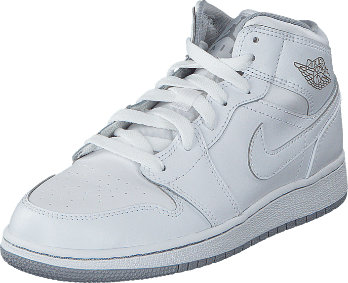 plus récent 040a1 b00dc Air Jordan 1 Mid Bg White/Wolf Grey
