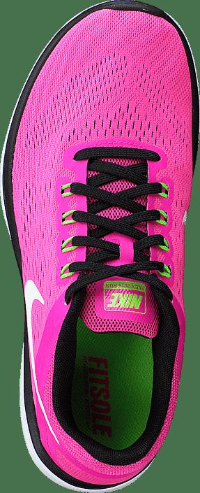 Nike Wmns Nike Flex 2016 Rn Pnk BlastWhite Blk Elctrc Grn
