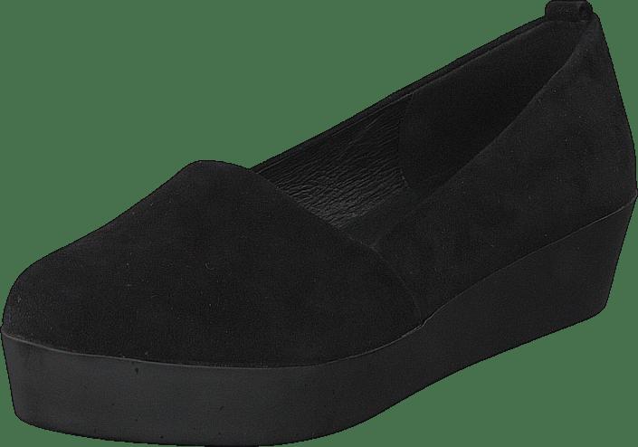 e1c7858ed Køb Bianco Suede Loafer Flatform JJA16 Black sorte Sko Online ...