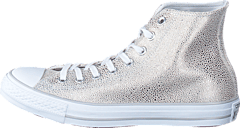 All Star Sting Ray Metallic-Hi Pure Silver/Black/White
