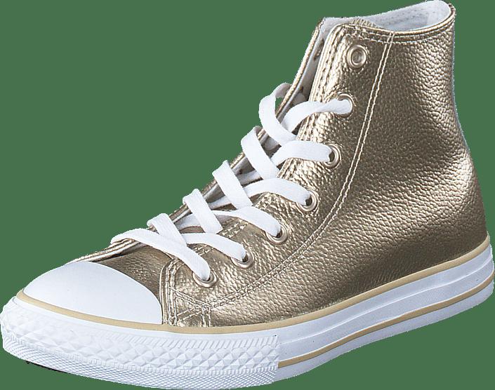 Converse All Star Metallic Hi Light guld vit vit vita Skor Online