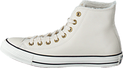 huge selection of 95c03 52ab0 Converse - All Star Shearling Leather-Hi Parchment Black Egret