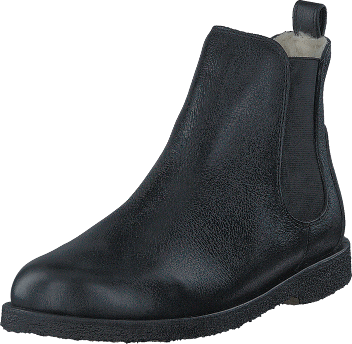 Chelsea boot with wool lining Black/Black